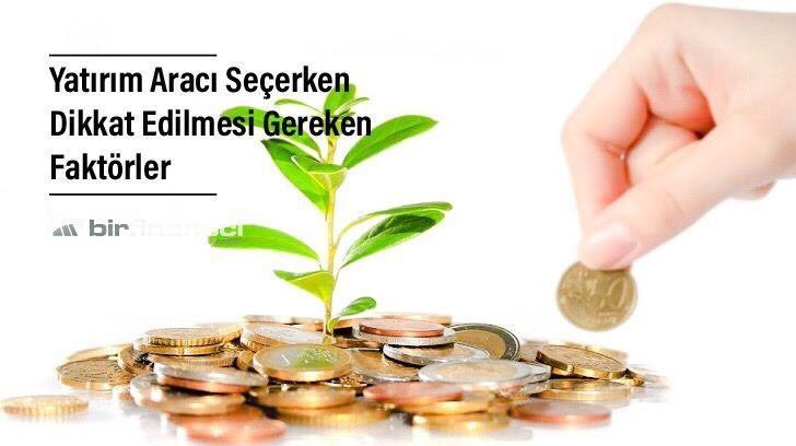 Yatırım Aracı Seçerken Dikkat Edilmesi Gereken Faktörler, Bir Finansçı